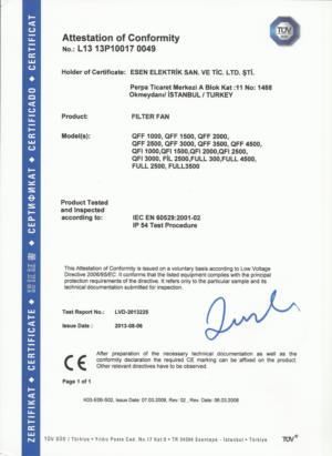 IP 54 CERTIFICATE