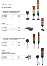 Pole mounting options